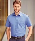 Russell Collection - Short Sleeve Easy Care Cotton Poplin Shirt - 100% Cotton