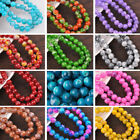 Wholesale 8mm 10mm 12mm Round Glass Loose Spacer Beads DIY Jewelry Findings NEW