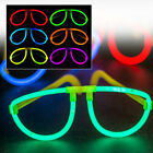 Glow In The Dark Glasses Party Neon Sticks Hen Glosticks Festival Fancy Dress