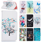 small leather case - Color Pattern PU Leather Wallet Card Flip Case Cover For Apple iPhone 5 5s SE