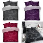 Good Night Pattern Modern Style Luxury Duvet Cover Sets Reversible Bedding Sets image
