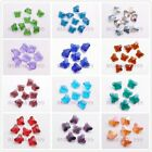 50pcs Charms Faceted Glass Crytal Butterfly Spacer Finding Beads 14mm 23 Color