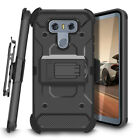 For LG G6 2017 Case Luxury Kickstand High Impact Hybrid Holster Protective Cover