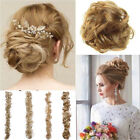80cm Messy Bun Hairpiece Hair Extension Cover Natural Long Curly Scrunchie Brown