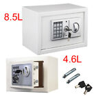 DIGITAL STEEL SAFE ELECTRONIC SECURITY HOME OFFICE MONEY CASH SAFETY BOX WHITE