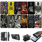 For [ LG Phoenix 3, Risio 2 ] Rugged Hybrid Heavy Duty Holster Case Clip Cool
