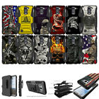 For [LG Stylo 2 Plus / Stylus  ] Rugged Hybrid Heavy Duty Holster Case Clip Cool
