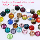 720 faceted glass SS20 5MM Czech Crystal foiled Rhinestones Flatback Non-Hotfix