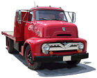 Ford 1955 C-600 truck canvas art print by Richard Browne