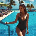 Women's Sexy One Piece Bikini Suit Swimsuit Solid Summer Beach Swimming Costume