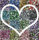 Внешний вид - Love Heart Flat Back Crystal Beads 8/10/12mm Resin Rhinestone Gems Mosaic Craft