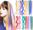 High Quality High Light Clip in Hair Extensions Purple Blue