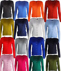 Ladies Ex M&S Ribbed Round Neck Classic Cardigan 6 - 24 UK All Colours NEW