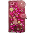 Handmade Luxury Leather Flip Bling lips fashion girl Wallet Phone Case Cover M