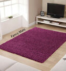 SMALL X LARGE THICK 5 cm PILE PLAIN SOFT PURPLE SHAGGY RUG NON SHED MODERN RUGS