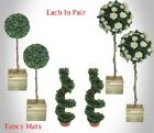 New Artificial Plants & Trees Topiary Ball,Spiral Twist, Flower Ball Trees Decor