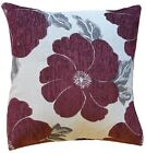 """NEW LUXURY Zipped Polyester Chenille Floral Printed Cushion Covers 18"""" Cover _"""
