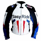 BMW Easy Ride Motorcycle Leather Jacket Sports Motorbike Leather Jacket All Size