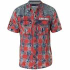 AFFLICTION Mens Embroidered Button Down Shirt STAPLE Biker UFC BKE Roar $78