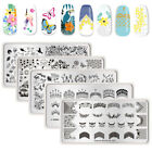 Rectangle Nail Stamping Plates Nature World Series Template Tools NICOLE DIARY