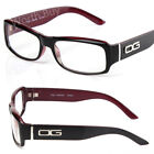 75afaa175d5 DG Eyewear Rectangular Black Wrap Frame Clear Lens Eye Glasses Fashion Men  Women