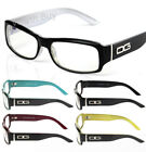 DG Eyewear Rectangular Black Wrap Frame Clear Lens Eye Glasses Fashion Men Women