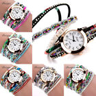 Luxury Women Girl Quartz Popular Bracelet Floral Gemstone Wrist Watch Dress Gift image