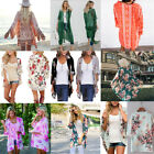 Women Chiffon Kimono Beach Cardigan Bikini Cover Up Wrap Beachwear Long Blouse