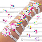 2/10PCS Unicorn Wristband Silicone Bracelet Bangles Party Supplies Kids Toy Gift