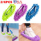 2/4Pcs Mop Slippers Lazy Floor Foot Socks Shoes Quick Polishing Cleaning Dust