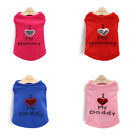 Love mommy Dog clothes shirt summer Schnauzer puppy small dog thin pet clothing