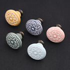 Vintage Flower Ceramic Drawer Knob Pull Handle for Door Cupboard Cabinet 1pc