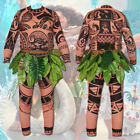 Moana Maui Tattoo T Shirt Pants Mens Women Cosplay Costume Halloween UK Book Day