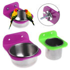 Stainless Steel Food Water Bowl Bird Feeder For Crates Cages Coop Dog Parrot HT