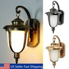 Aluminum Vintage LED Wall Light Lantern Lamp Garden Outdoor Hanging Porch Patio