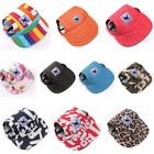 Внешний вид - Summer Canvas Visor Outdoor Sunbonnet Neck Strap Wise Baseball Hat For Pet Dog