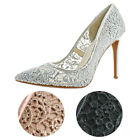 Jessica Simpson Praylee2 Women's Crochet Floral Print Stiletto Shoes