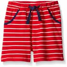 Mud Pie Sail Away Collection Striped French Terry Pull-On Shorts
