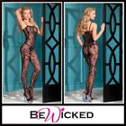 Sexy Lingerie Bodystocking aperta Floral Design Be Wicked Intimo Donna Catsuit