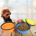 Collapsible Pet Puppy Bowl Portable Foldable Bowls Animal Do