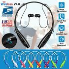 Universal Wireless Headset Stereo Headphone Neckband Sport Retractable Earphone