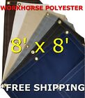 8' x 8' Workhorse Polyester Waterproof Breathable Canvas Tarp