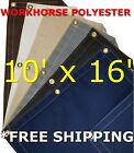 10' x 16' Workhorse Polyester Waterproof Breathable Canvas Tarp