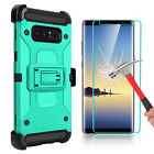 For Samsung Galaxy Note 8 Armor Case With Kickstand Belt Clip + Screen Protector