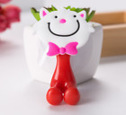 Cartoon PVC Animal Cute Sucker Toothbrush Wall Holder Suction Cup Bathroom Baby