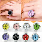 Colorful Finger Ring Watch Creative Steel Round Dial Elastic Quartz Unisex Gift