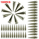 Kyпить 100pc 26mm Silver Spots Cone Screw Metal Studs Leather Craft Rivet Bullet Spikes на еВаy.соm