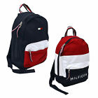 Внешний вид - Tommy Hilfiger Backpack Canvas Small Book Bag 2 Pocket School Travel Colorblock