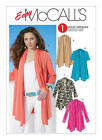 M6084 McCall's Sewing Pattern EASY 1 Hour Misses 4-26 Cardigan Wrap