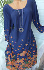 sheego Jersey Dress Patterned Size 42 - 54 Blue (469) NEW